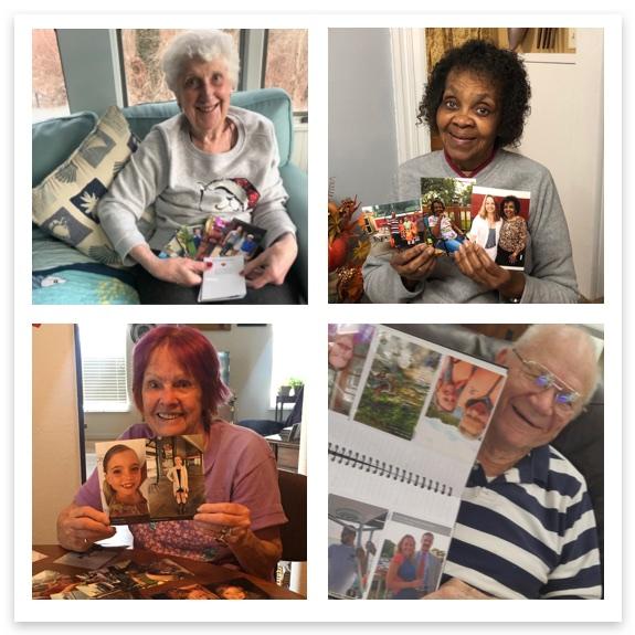 Photo of grandparents holding 4x6 prints
