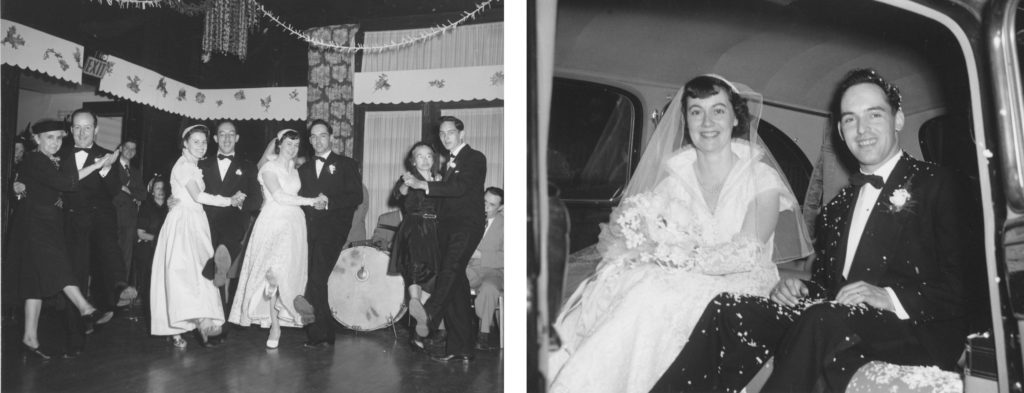 Photo of 1940s wedding.