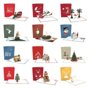 Photo of several Lovepop Christmas cards.