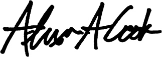Alex Cook's signature